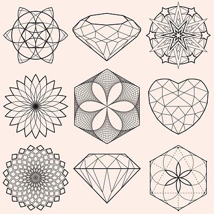 Geometrical Shapes and Gems