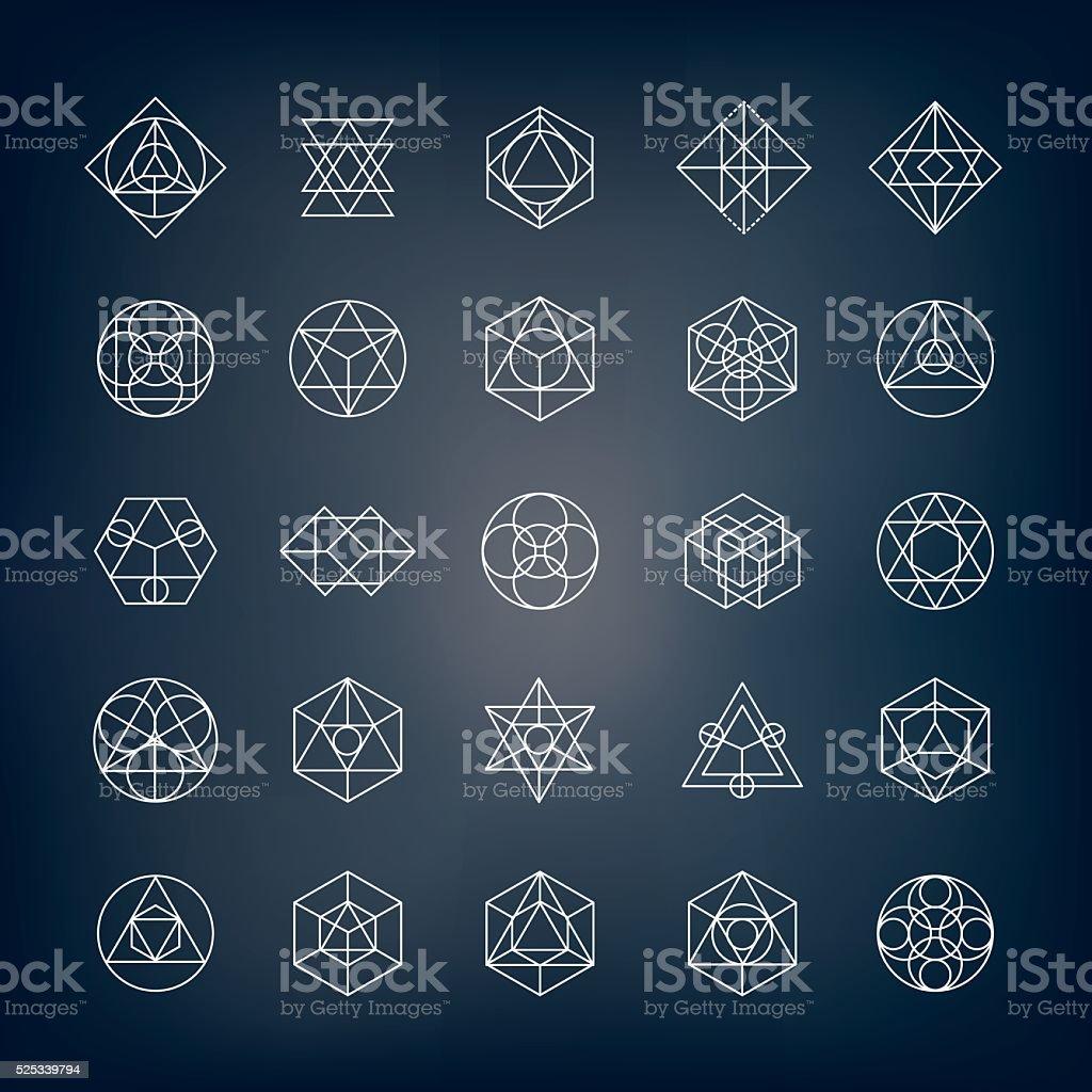 Formas geométricas-geometría Sagrada - ilustración de arte vectorial