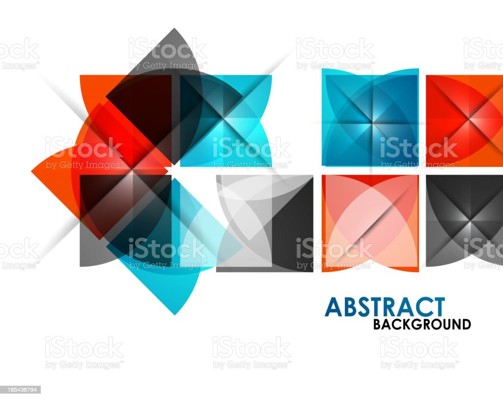 Geometrical squares modern template royalty-free stock vector art