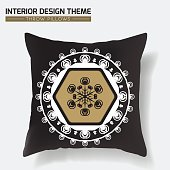 Geometrical Throw Pillow design template
