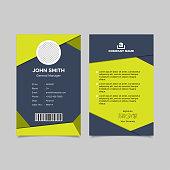 Geometry employee id card templates. Vector illustration EPS 10