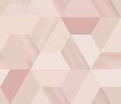 Geometry hexagonal abstract seamless pattern in beige/nude theme with glitter
