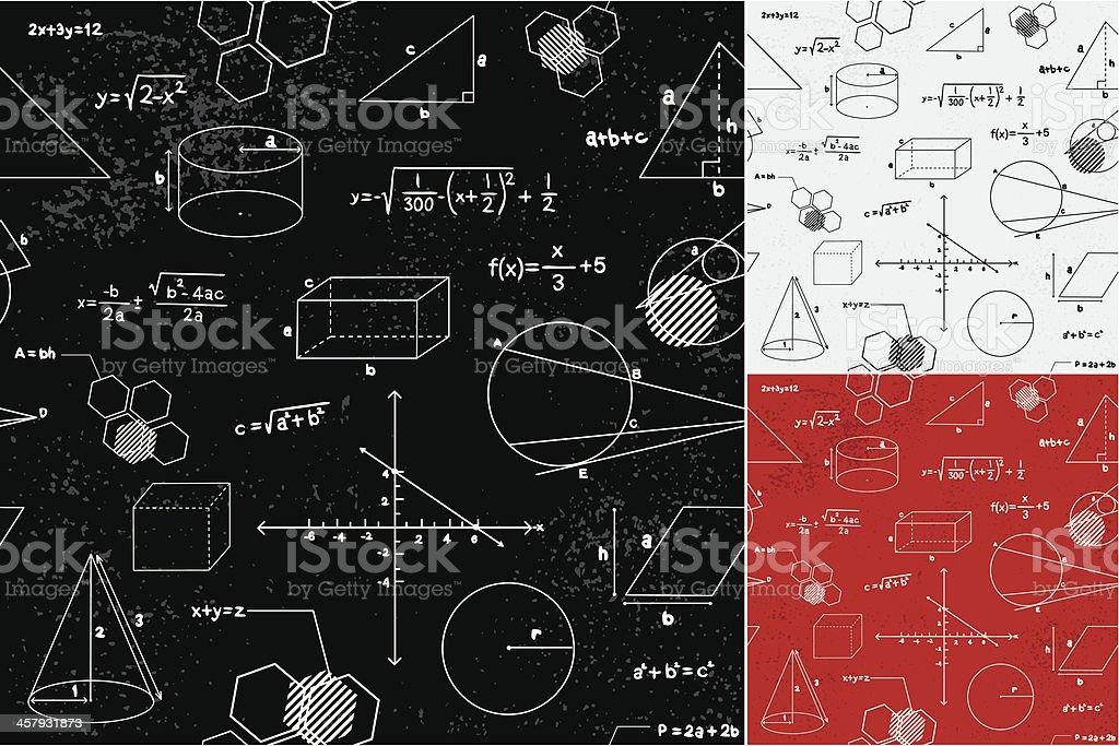 Geometry seamless pattern vector art illustration