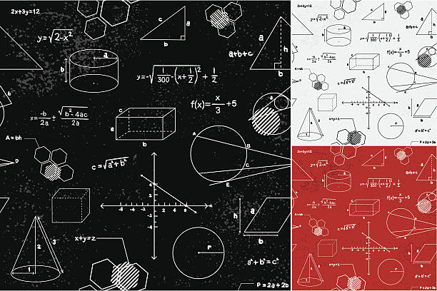 geometry seamless pattern - math class stock illustrations, clip art, cartoons, & icons