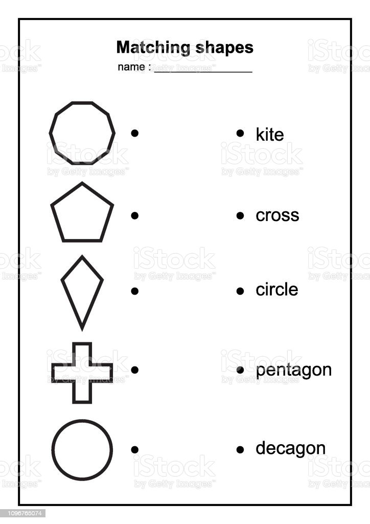 image regarding Printable Geometric Shapes titled Geometry Condition Matching Activity Useful Geometric Styles