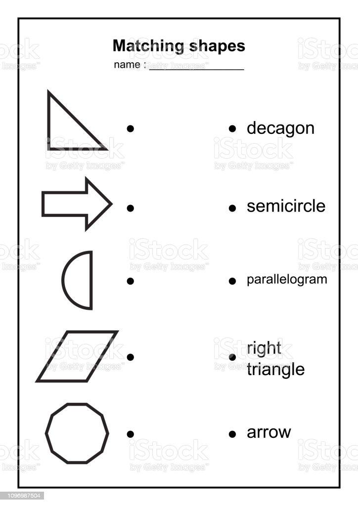 Geometry Shape Matching Game Educational Geometric Shapes Game ...
