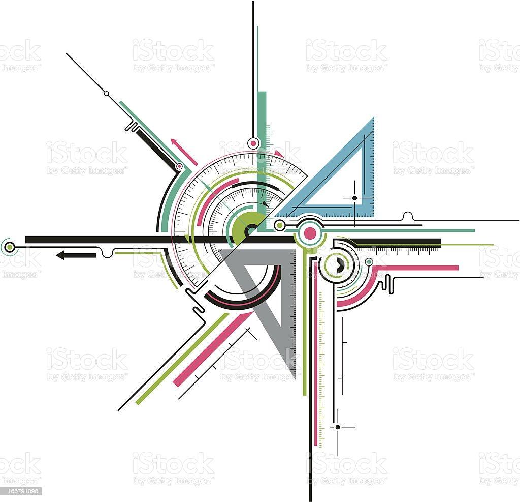 geometry tools vector art illustration