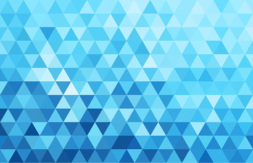geometry  triangle  white and blue.