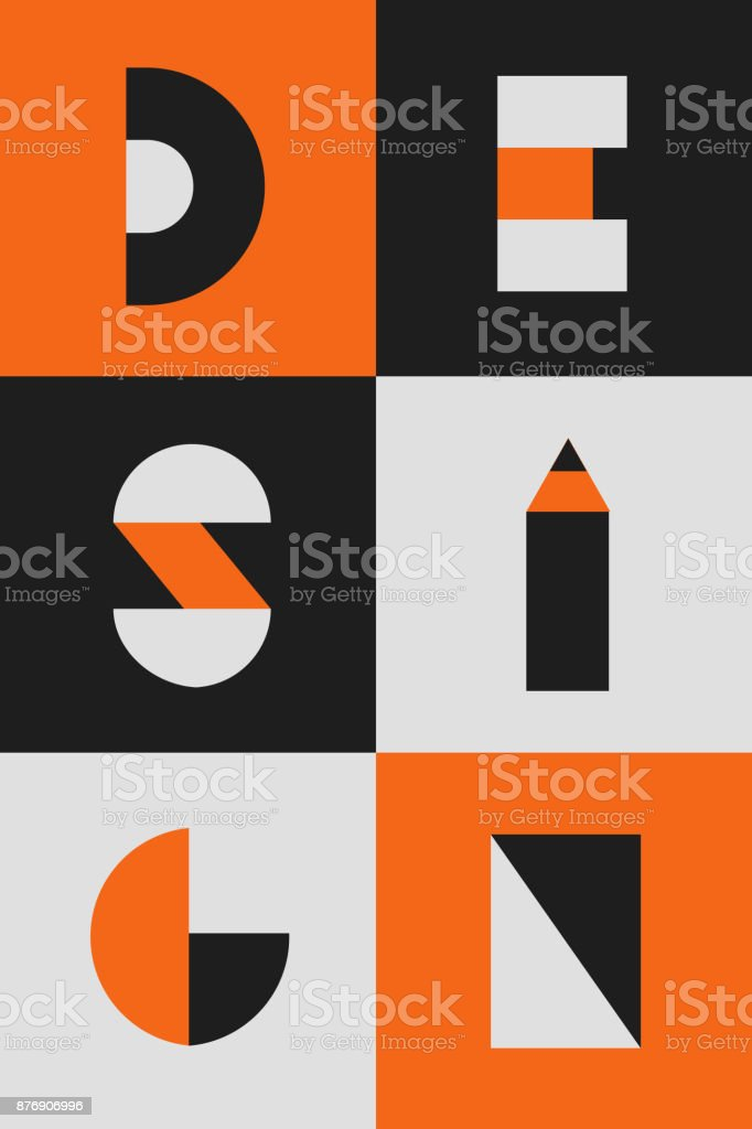 Geometrie-Typografie-Gestaltung-poster – Vektorgrafik
