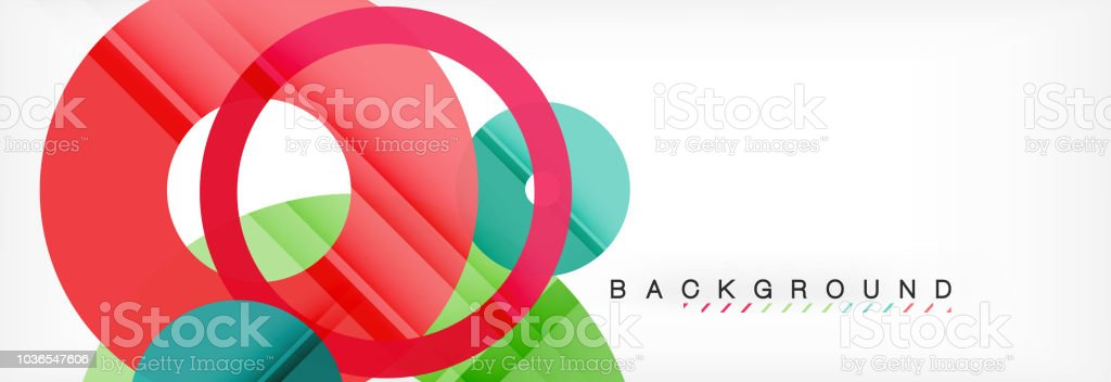 Geomtric modern backgrounds, rings abstract template vector art illustration