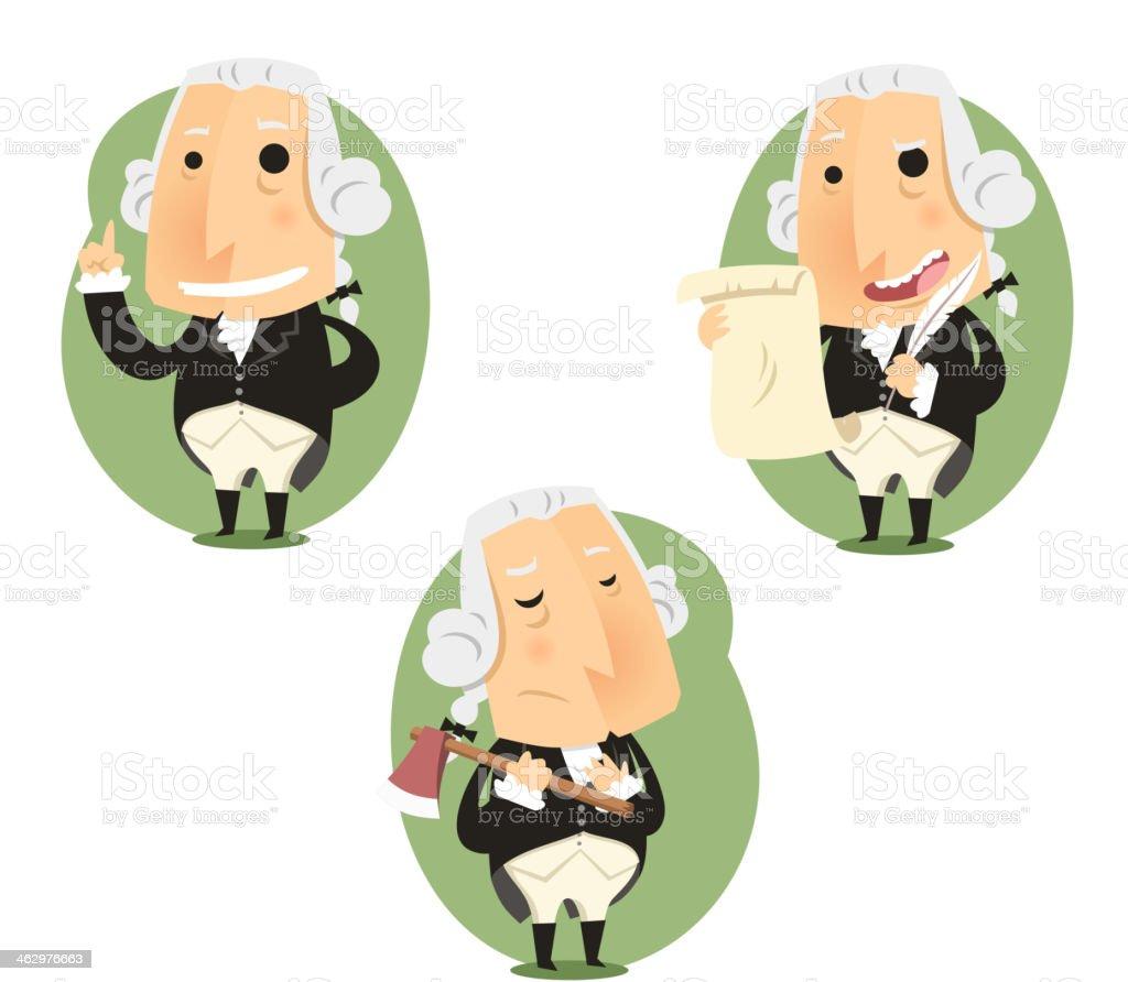 George Washington President Set vector art illustration