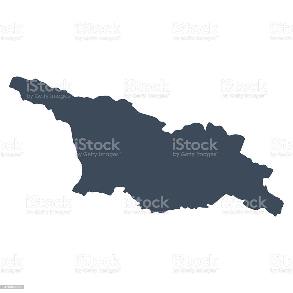 Map Of Country Of Georgia.Georgia Country Map Stock Illustration Download Image Now Istock