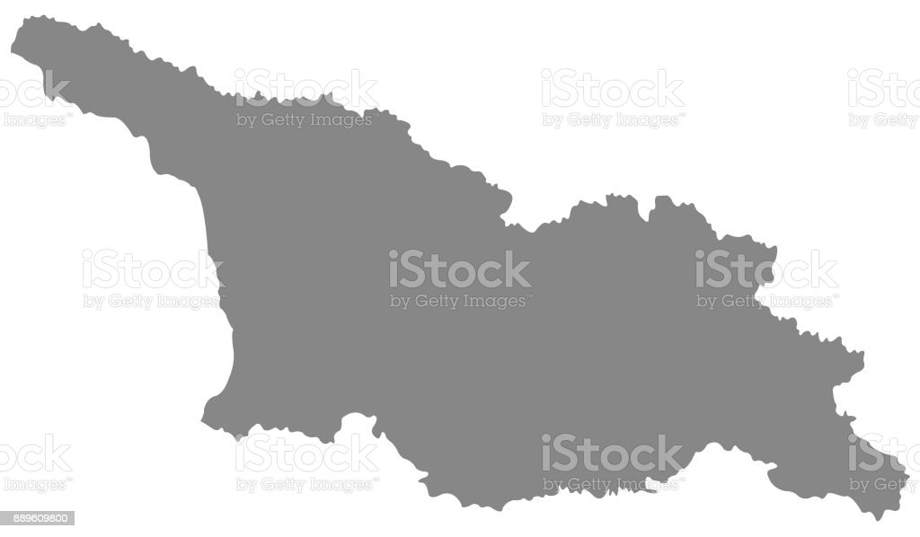 Georgia - country map vector art illustration