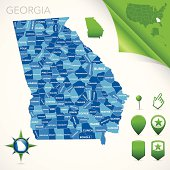 Georgia County Map