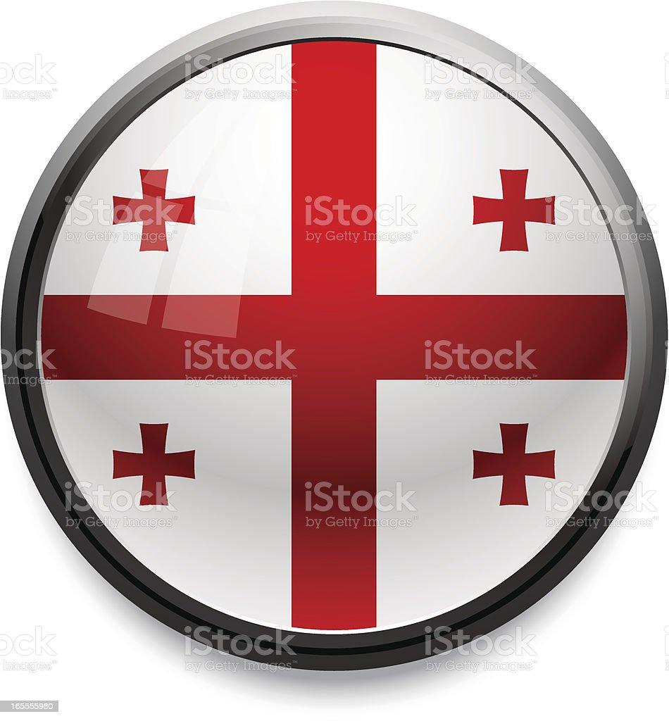 Georgia - flag icon royalty-free stock vector art