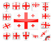 Georgia Flag Vector Set