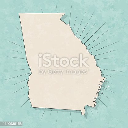 istock Georgia (USA) map in retro vintage style - Old textured paper 1140936153