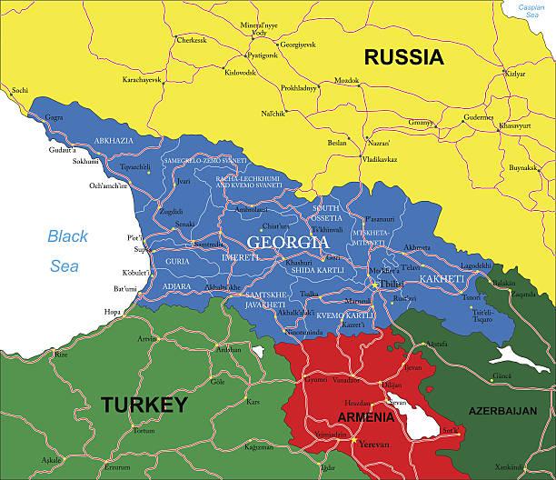 Royalty Free Caucasus Clip Art Vector Images Illustrations IStock - Nalchik map
