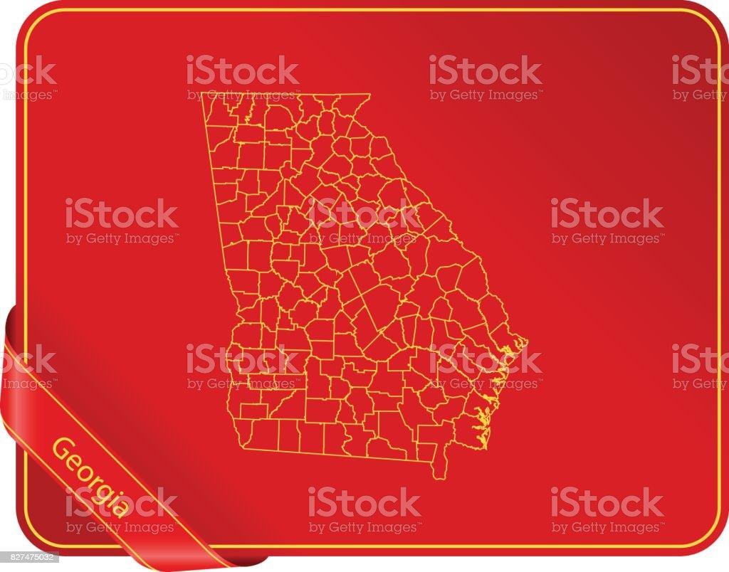 Georgien Karte Regionen.Georgien Karte Stock Vektor Art Und Mehr Bilder Von Amerikanische