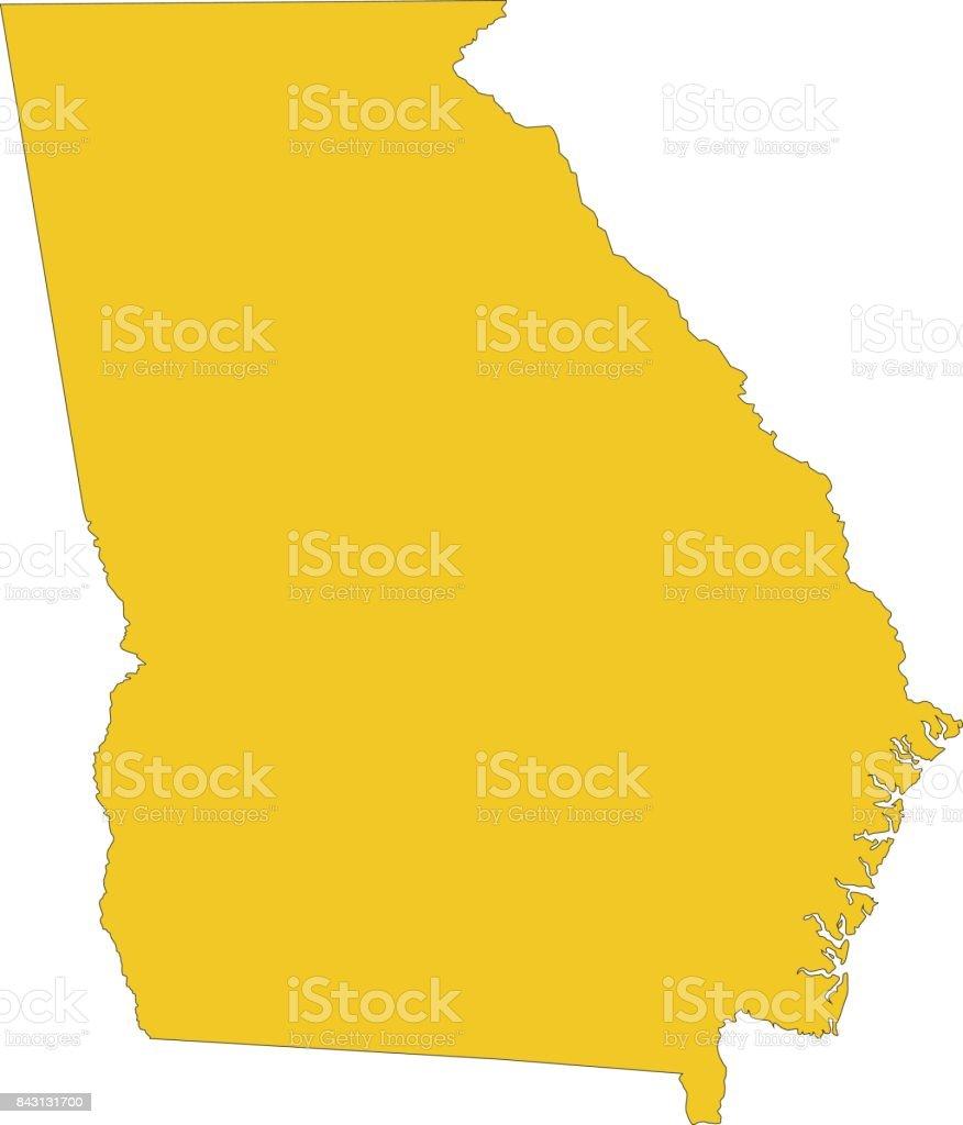 Map Of Georgia 1700.Georgia Map Stock Vector Art More Images Of Atlanta Georgia