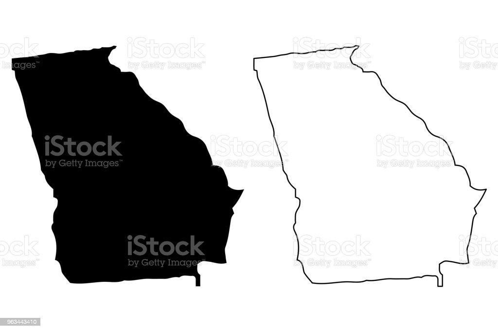 Vecteur de carte de Géorgie - clipart vectoriel de Abstrait libre de droits