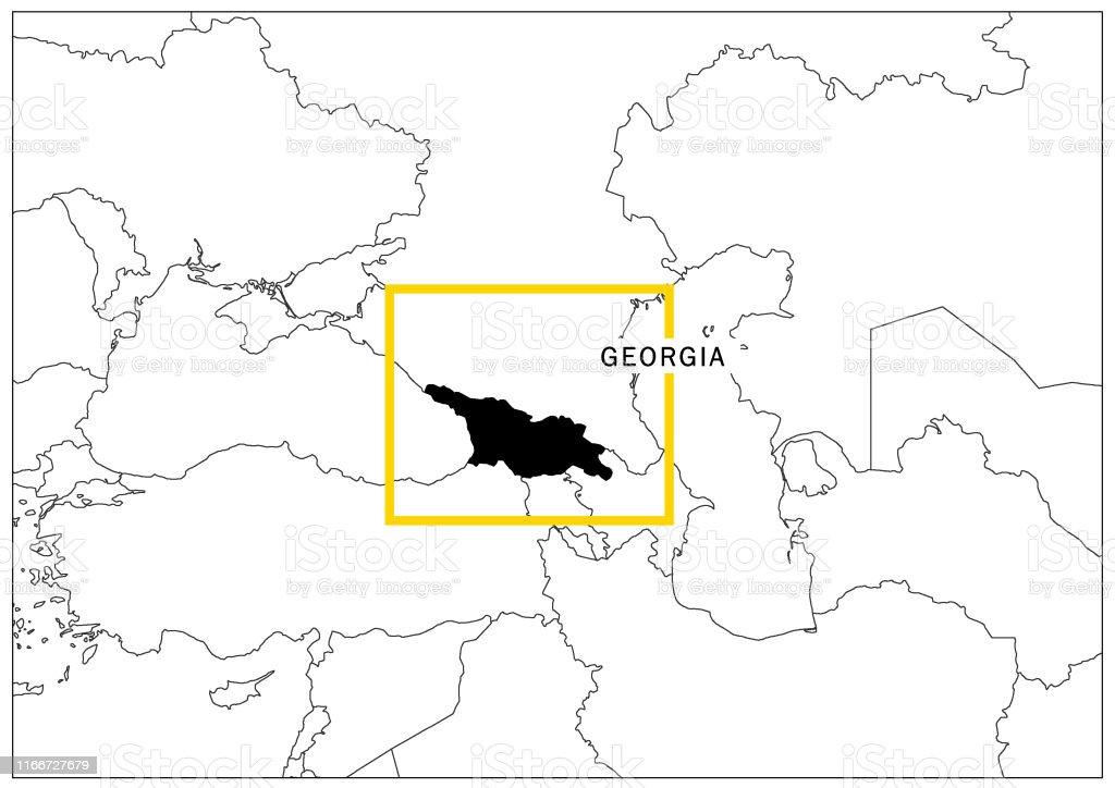 Georgia Map With Yellow Frame And Name Country Stock ... on georgia russia map, georgia usa, republic of georgia map, georgia topographic map, georgia ukraine map, azerbaijan map, georgia's map, eastern europe map, georgia brewery map, georgia county map, nation of georgia map, georgia europe, georgia regions map, world map, armenia map, georgia political map, chechnya map, georgia state map, georgia the country, georgia country people,