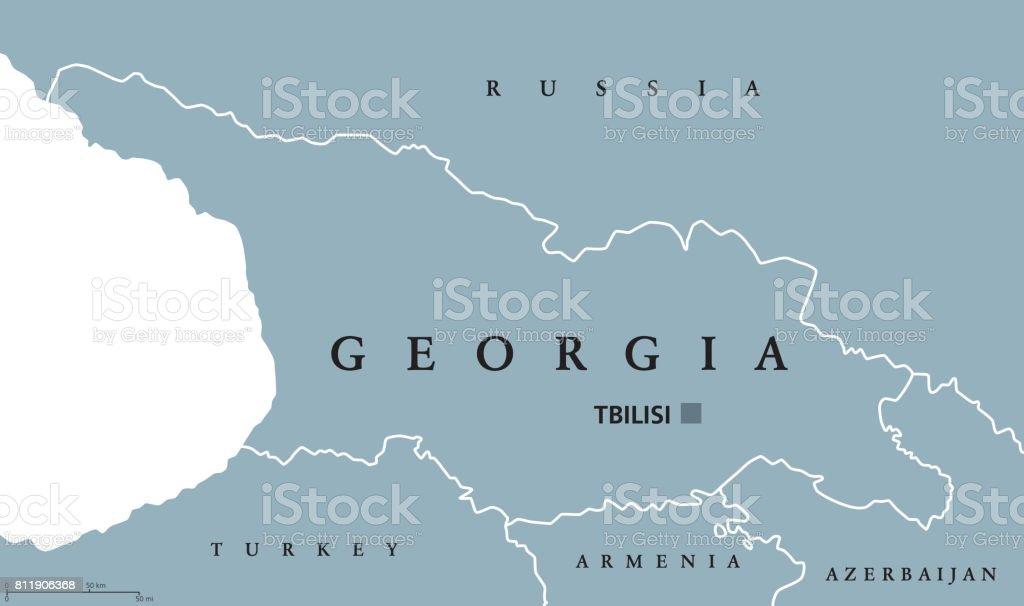 Georgia Political Map Stock Vector Art More Images Of Armenia