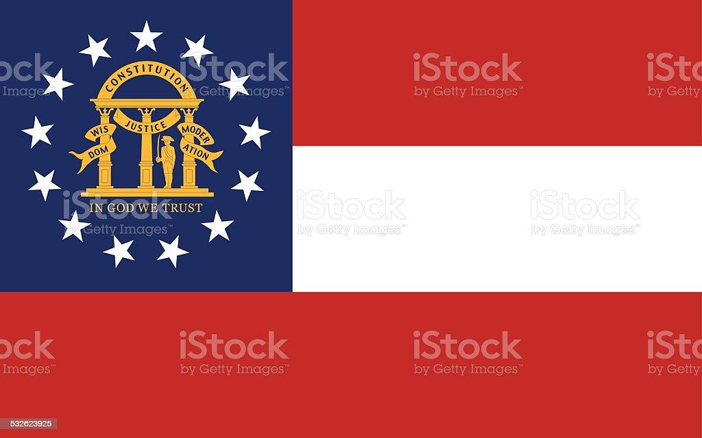 Bandeira do estado da Geórgia - ilustração de arte em vetor