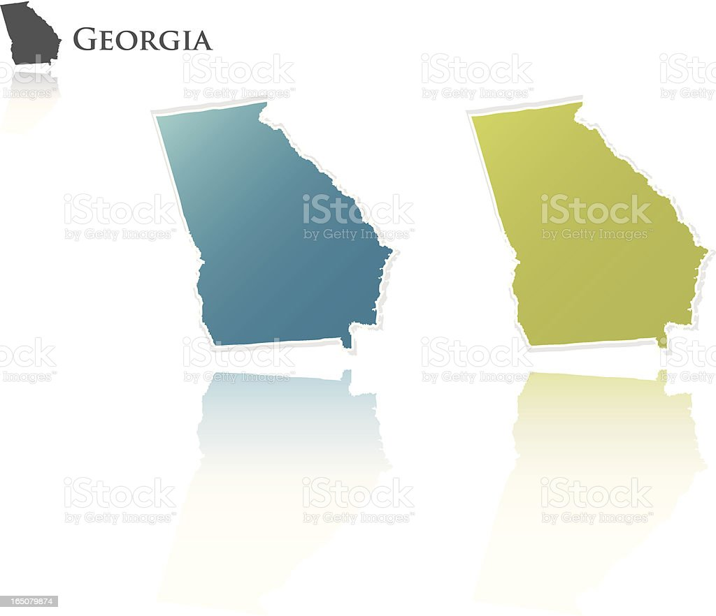 Georgia State Graphic royalty-free stock vector art