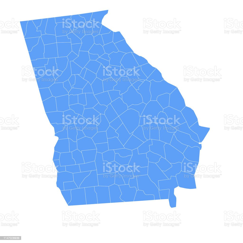 Georgia State Map With Counties Stock Vector Art & More ... on tennessee map, florida map, georgia flag, georgia tourist attractions, texas map, south carolina map, auburn university map, georgia regions, south states map, georgia cities, kentucky map, colorado map, arizona map, united states map, north carolina map, usa map, rhode island map, georgia country, atlanta map,