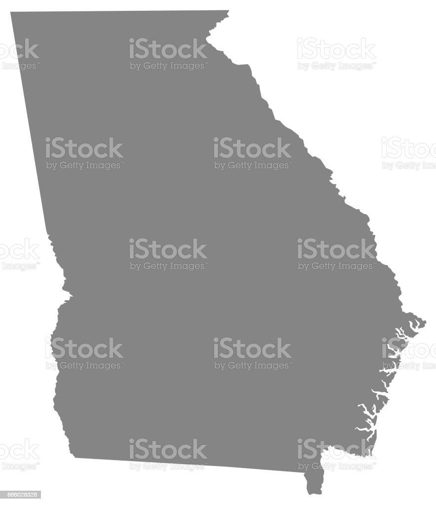 U S State Map Vector.Georgia Us State Map Stock Vector Art More Images Of Atlanta