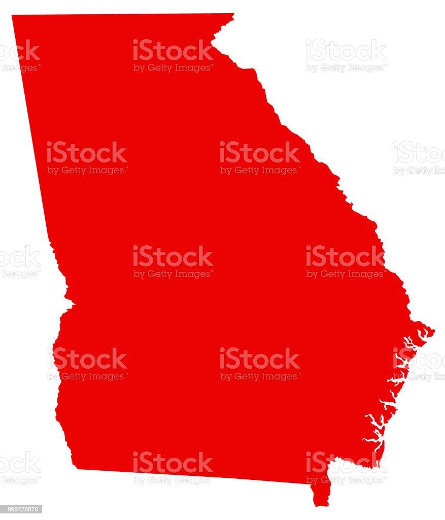 Atlanta Georgia State Map - Us-map-georgia-state
