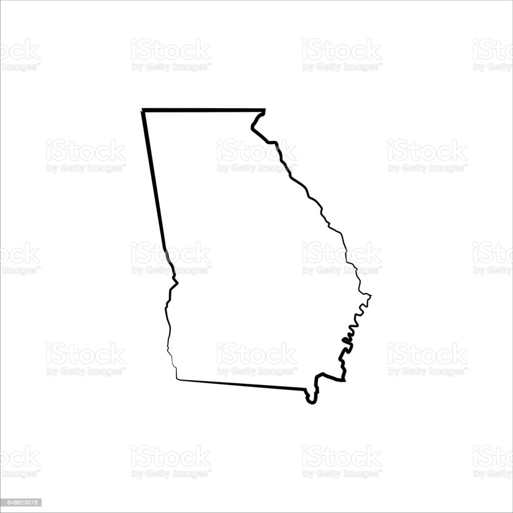 royalty free georgia us state clip art vector images rh istockphoto com savannah georgia clip art georgia bulldog clipart