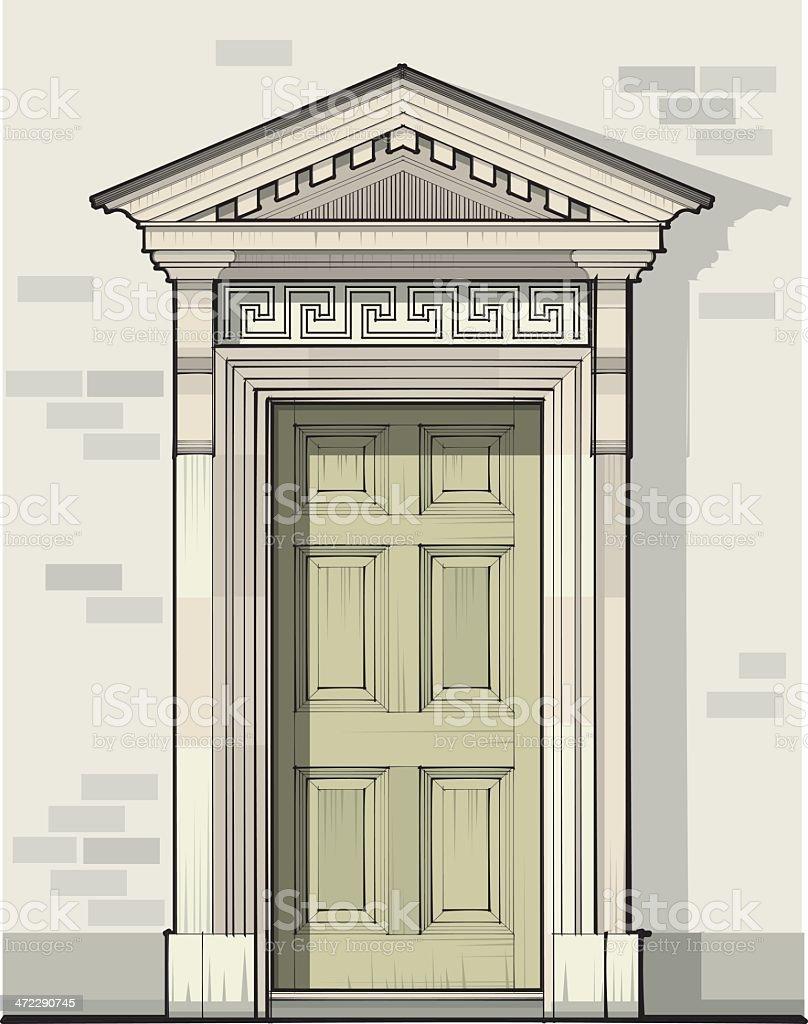 Georgian Door Detail with Pediment royalty-free georgian door detail with pediment stock vector art & Georgian Door Detail With Pediment Stock Vector Art \u0026 More Images of ...