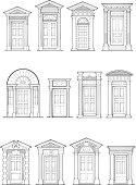 A selection of Georgian front door details