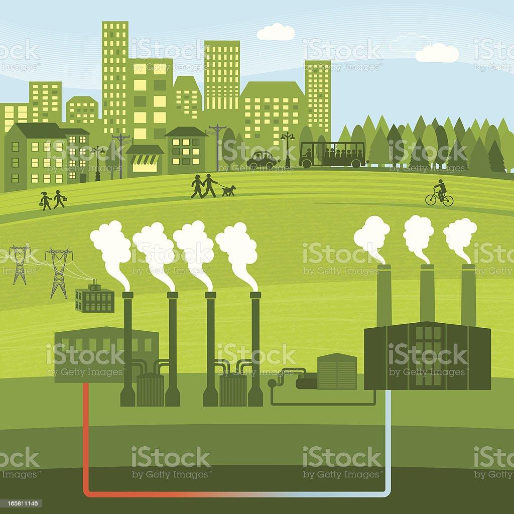 Geothermal Energy royalty-free stock vector art
