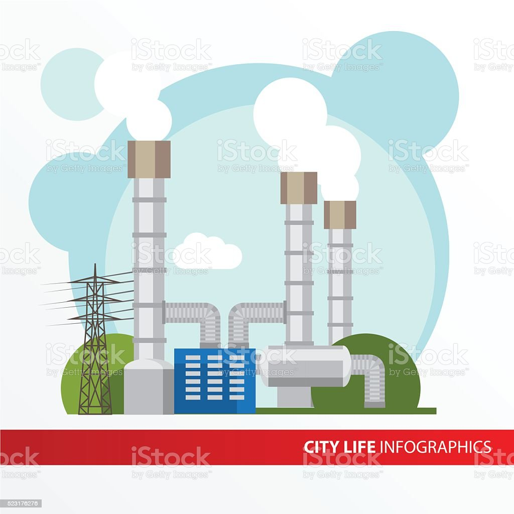 royalty free geothermal power station clip art vector images rh istockphoto com power plant clip art free power plant clipart 3d