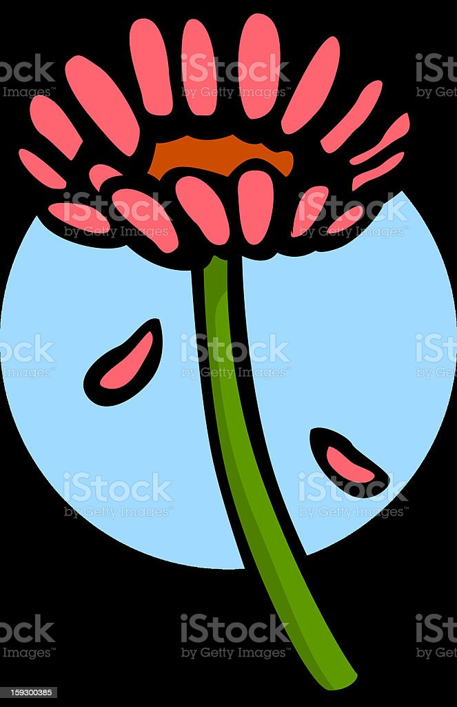 gerbera daisy flower royalty-free stock vector art