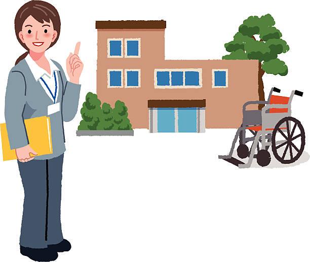 Geriatric Service manager und der Ruhestand nach Hause – Vektorgrafik