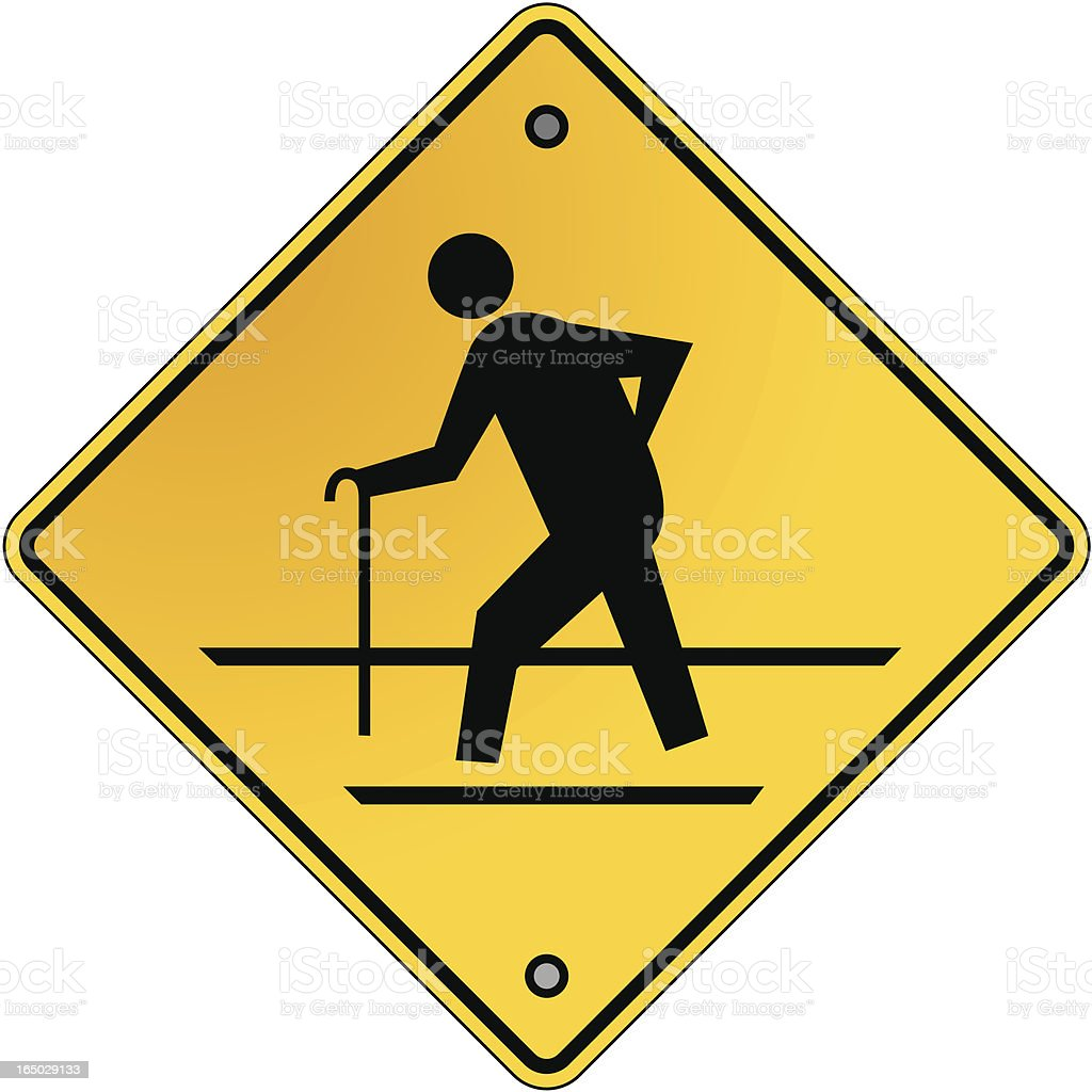 geriatric crossing royalty-free geriatric crossing stock vector art & more images of adult