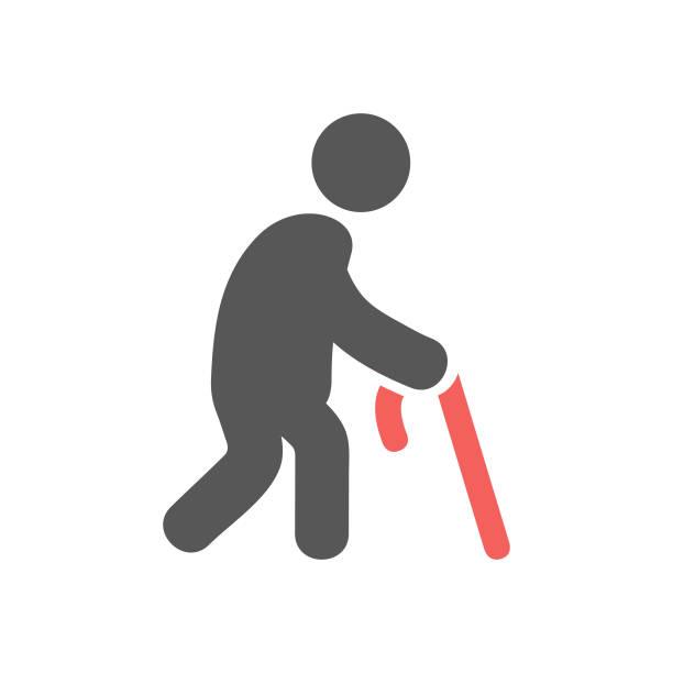 ilustraciones, imágenes clip art, dibujos animados e iconos de stock de icono de geriatría - geriatría
