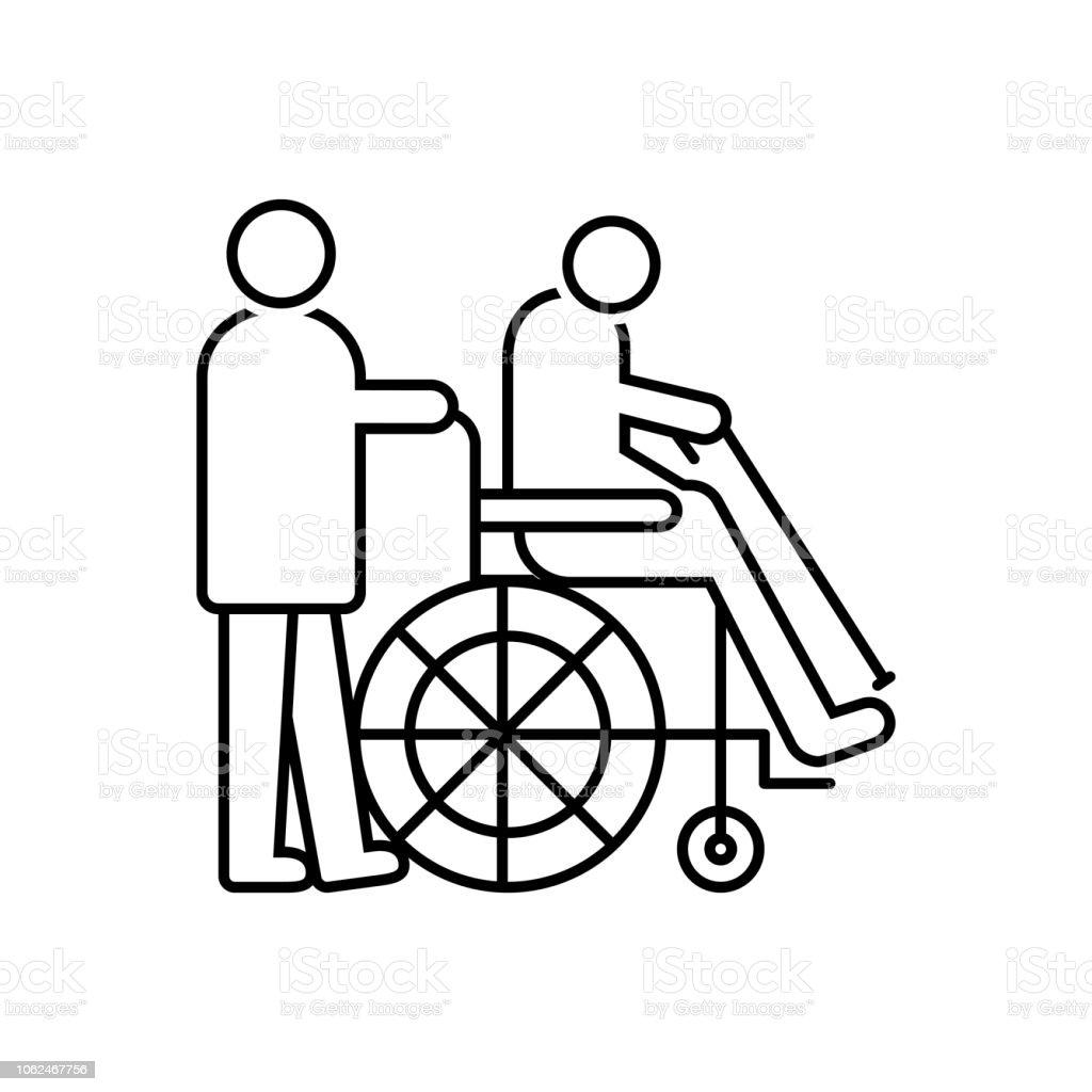 Terapia de Geriatría - ilustración de arte vectorial
