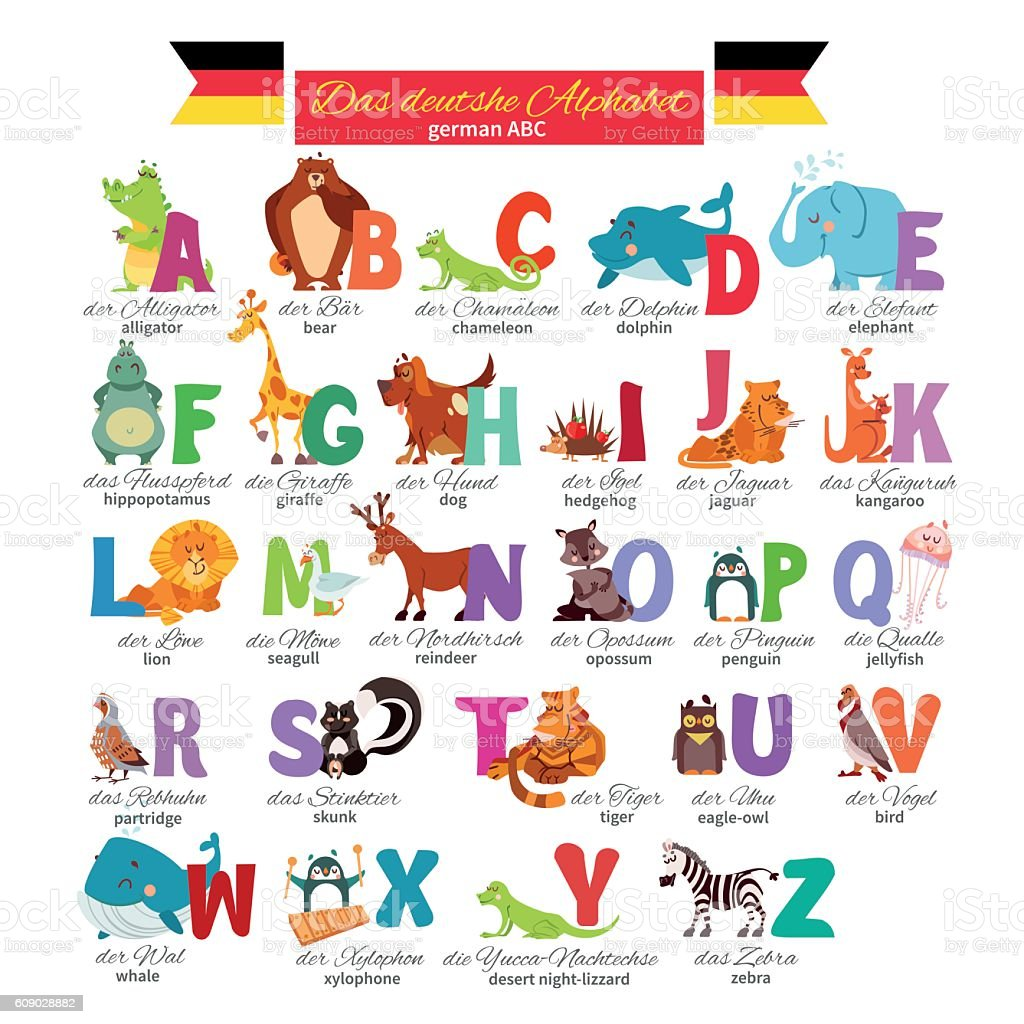 German abc for preschool education – Vektorgrafik