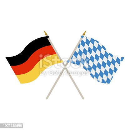 German And Bavarian Flags Stock Vector Art More Images Of Art