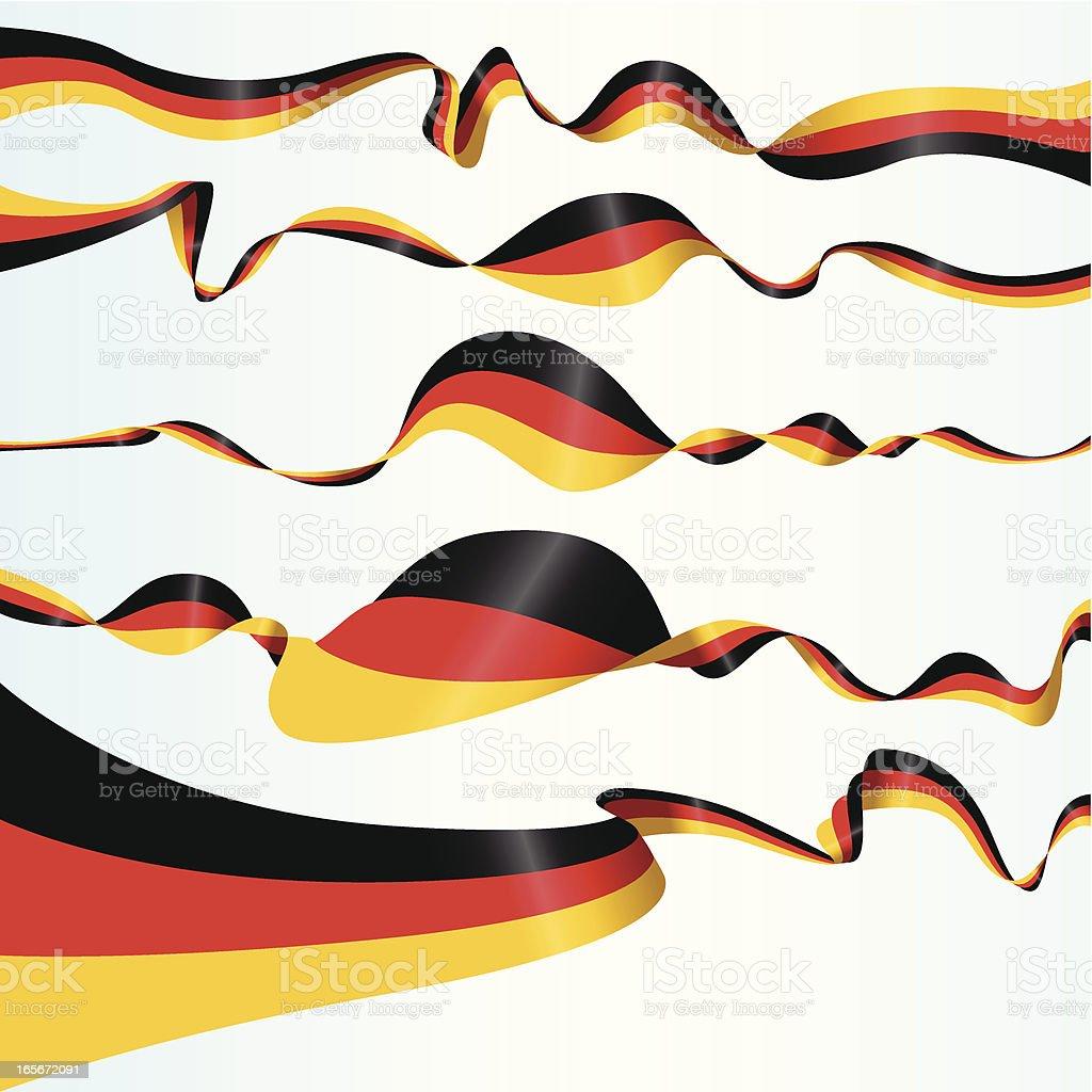 German Banners vector art illustration