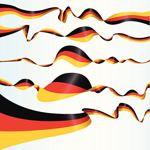 ilustraciones, imágenes clip art, dibujos animados e iconos de stock de alemán banners - bandera alemana