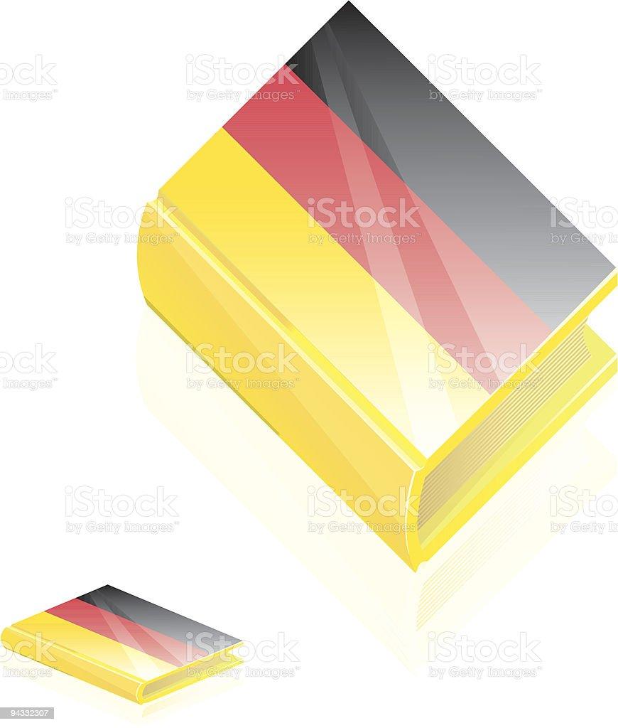 German Book Icon royalty-free stock vector art