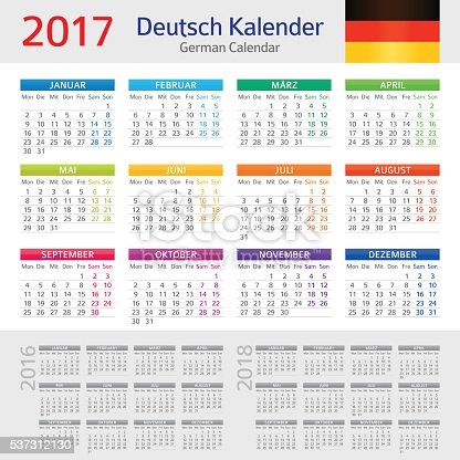 deutsche kalender 2017deutsch kalender date 2017 stock. Black Bedroom Furniture Sets. Home Design Ideas