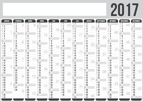 German Calendar 2017