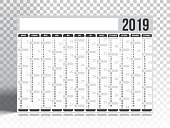 Calendar 2019 isolated on an transparent background - German version (Deutsch Version). Need another version, another year... Check my portfolio. Vector Illustration (EPS10, well layered and grouped). Easy to edit, manipulate, resize or colorize. Please do not hesitate to contact me if you have any questions, or need to customise the illustration. http://www.istockphoto.com/portfolio/bgblue